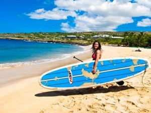 Our Friends at paddle board Lanai show how to carry your SUP.