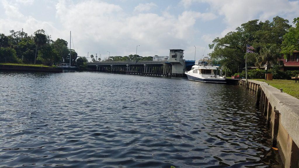 My turn around point at the Davie Boulevard bridge in Fort Lauderdale